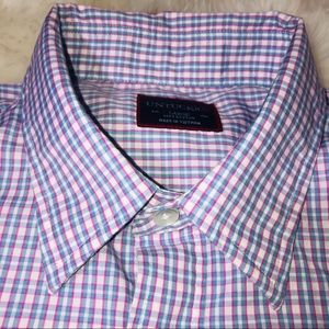UNTUCKit Mens Button Up Shirt Blue Plaid L